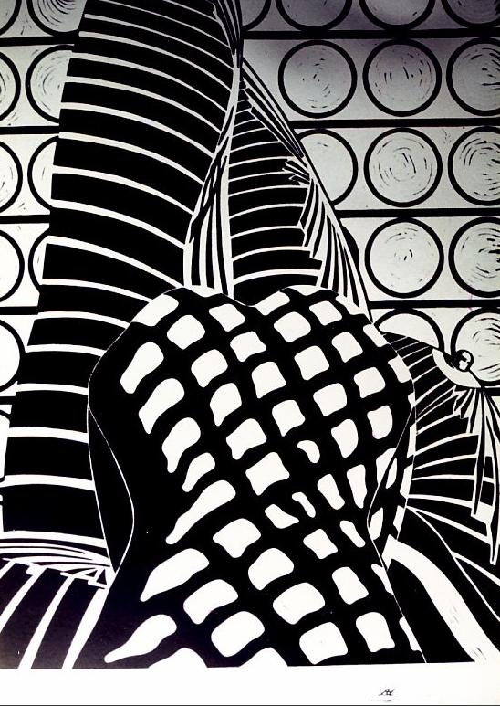 Belle - Linogravure - 100x70 - Didier Angels