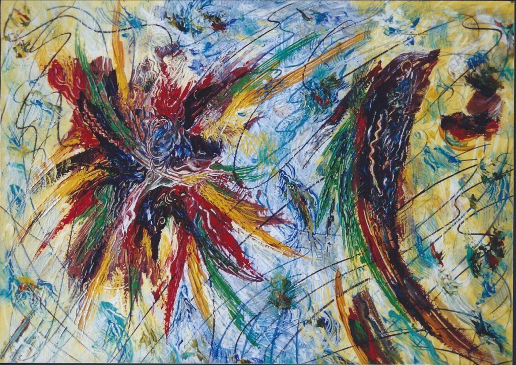Feu d'Artifice - Peinture Acrylique - 116x80 - Didier Angels