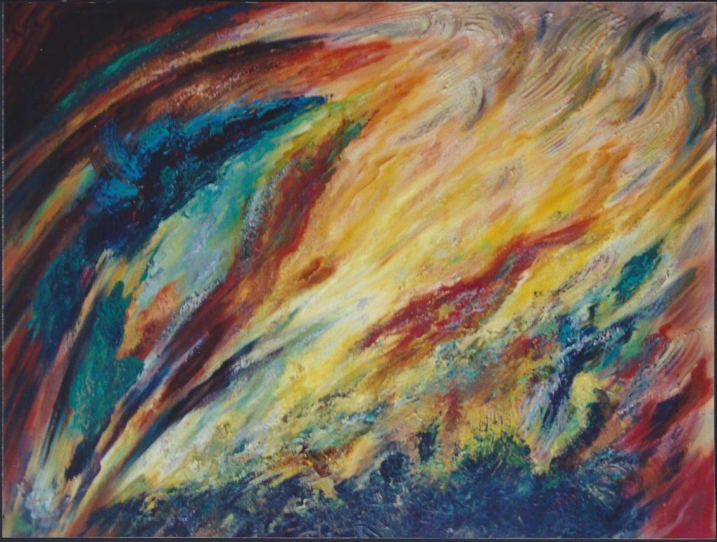 Lave Ardente - Peinture Acrylique - 116x89 - Didier Angels