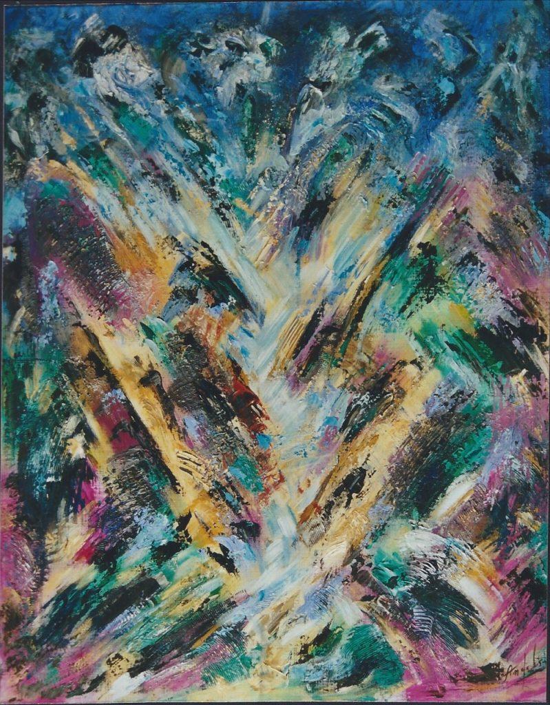Marguerite - Peinture Acrylique - 100x89 - Didier Angels