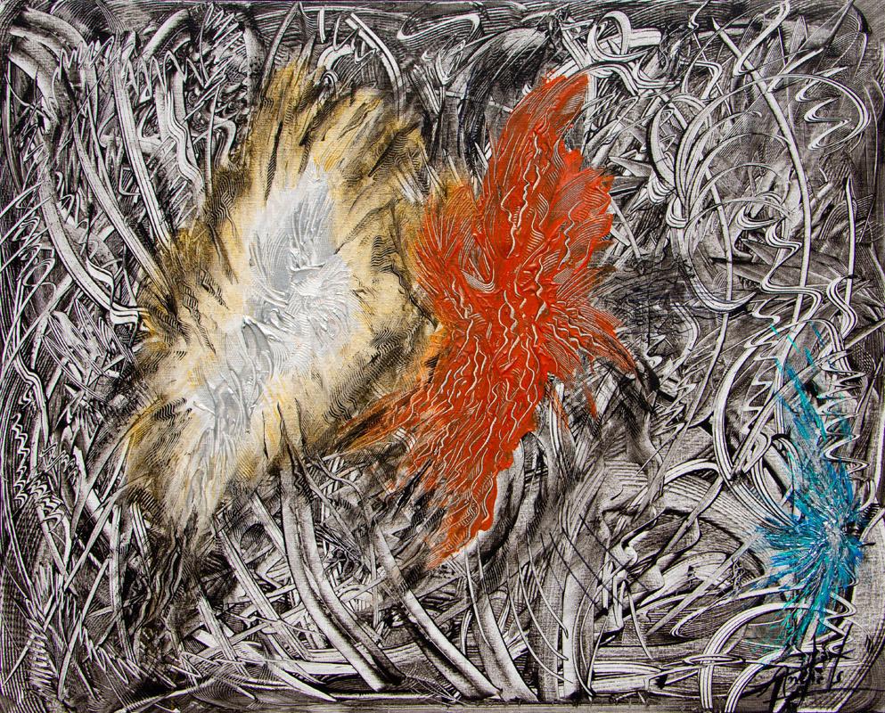 La République- Peinture Acrylique -100x73 - Didier Angels